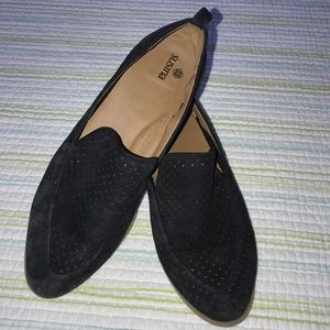 Susina Black Suede Loafers SH25